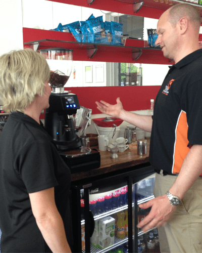 coffee machine demonstration