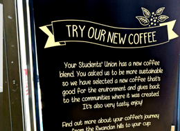 caffe praego coffee supplier to students' union